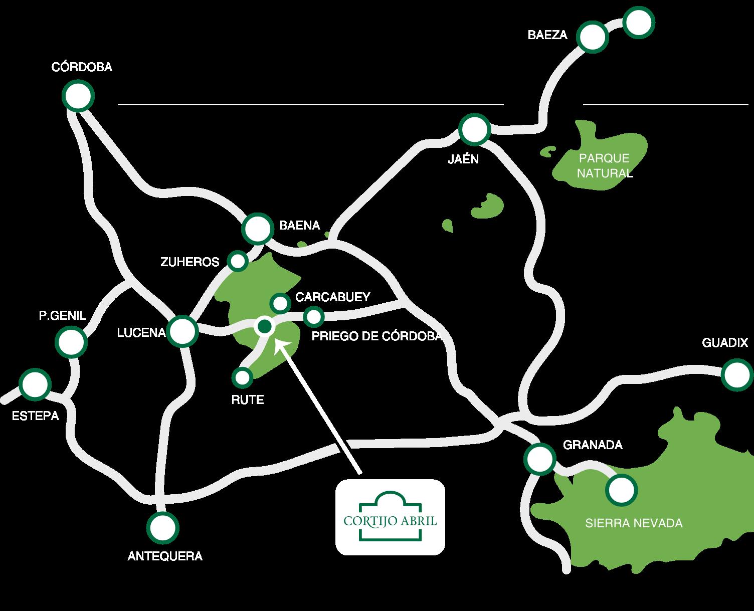 Mapa localización del cortijo.